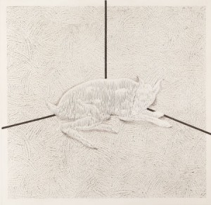 RICHARD ARTSCHWAGER (American, b. 1923). Intersect, 1992. Etching. 25-3/4 x 26-3/4 inches (65.4 x 67.9 cm). Ed. A.P.