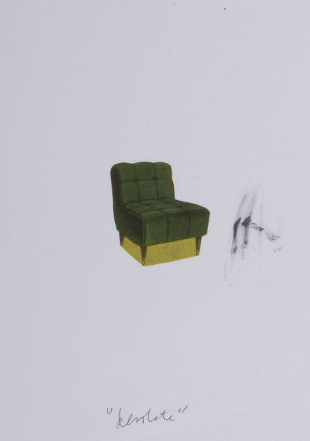 "CLAES OLDENBURG (American, b. 1929). Stuffed Chair, Inscribed ""desolate,"" Los Angeles, 1963/1972. Color offset lithograph"