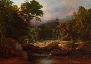 "George Inness, ""Stream in the Woods"""