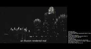 still from Eve Sussman's whiteonwhite:algorithmicnoir trailer