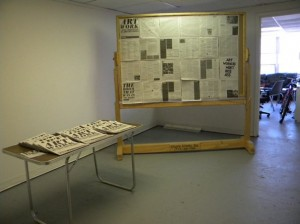 Temporary Services Art Work newspaper, exhibition, and free school at Skydive