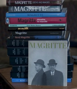 Some books about Magritte, including the IV-volume catalogue raisonne.