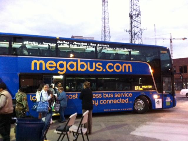 Megabus from San Antonio to Austin at 7:30 am