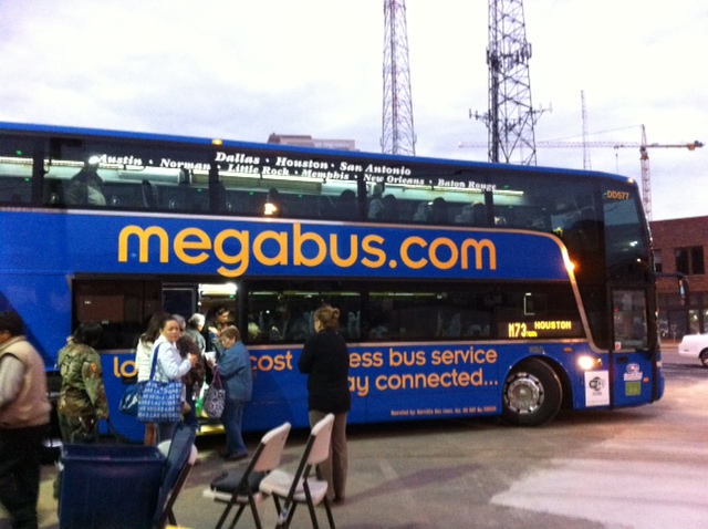 Megabus from San Antonio to Austin at 7:30 am