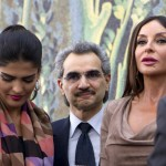Saudi Prince Waleed bin Talal (center), his wife Princess Amira al-Taweel (left) and Azerbaijan's first lady Mehriban Aliyeva attended the opening of the Louvre's new wing last month.