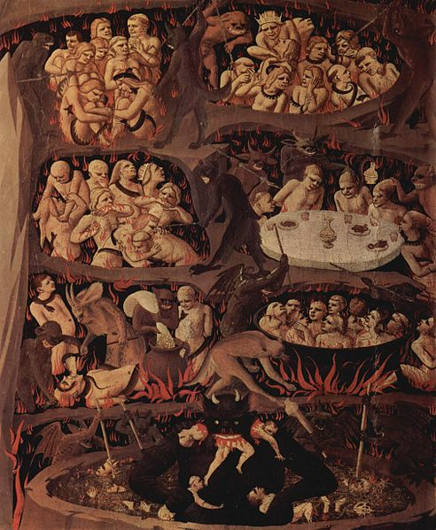 "Fra Angelico, detail ""The Last Judgment,"" tempera on wood, 1425-1430"