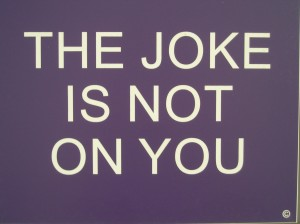 "Benjamin H. McVey, ""The Joke Is Not On You, No. 1 of 5"" (edition of 5), wood and plastic, 2012"