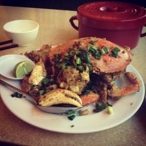 Fried Pacific Crab at Newport Tan Cang Seafood Restaurant