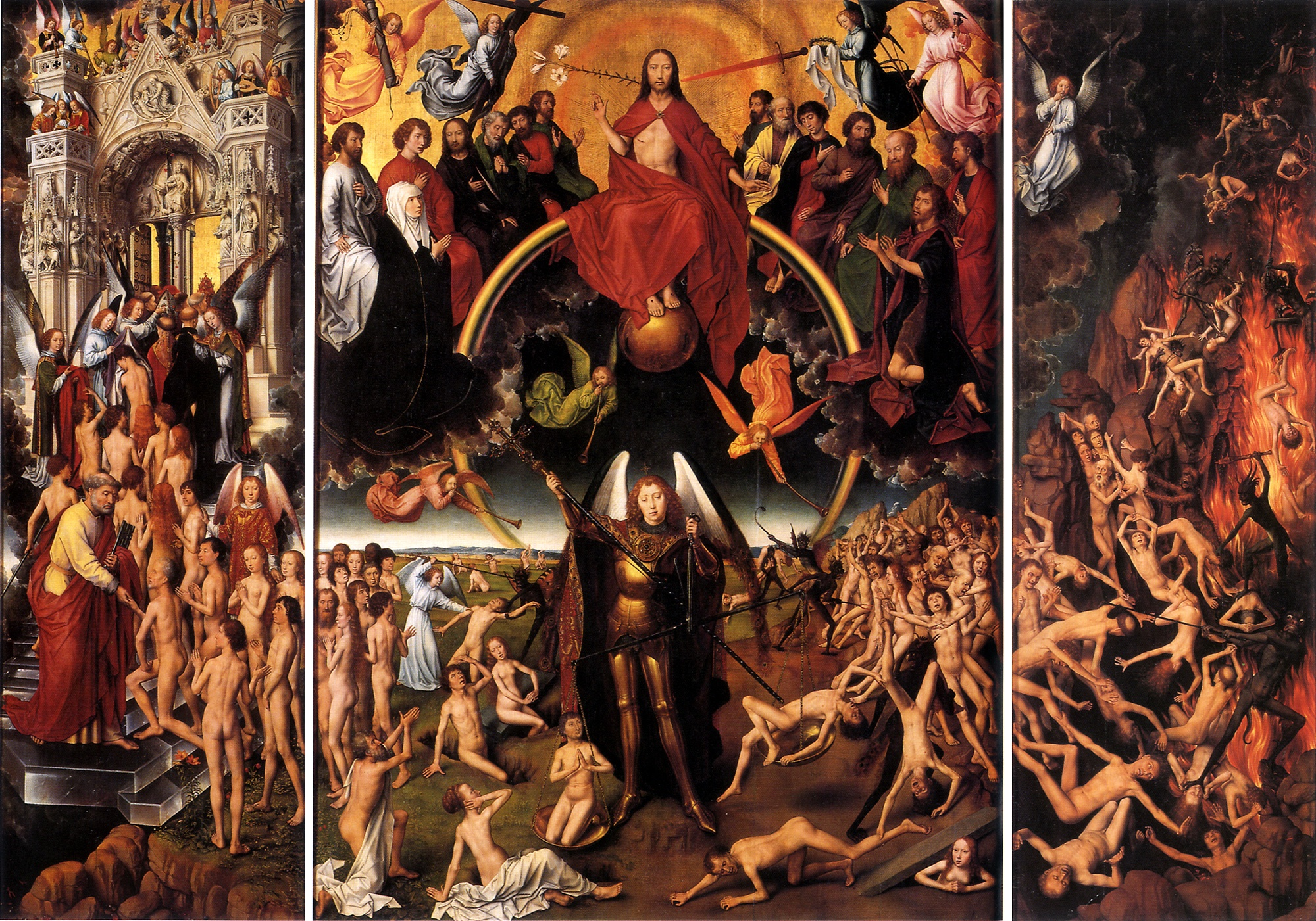 "Hans Memling, ""The Last Judgment,"" 1467-71"