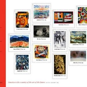 modern art stamps