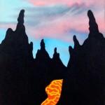 Ken Price Volcano Drawing