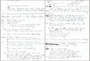 notes on sleepers taken by Nathaniel Donnett