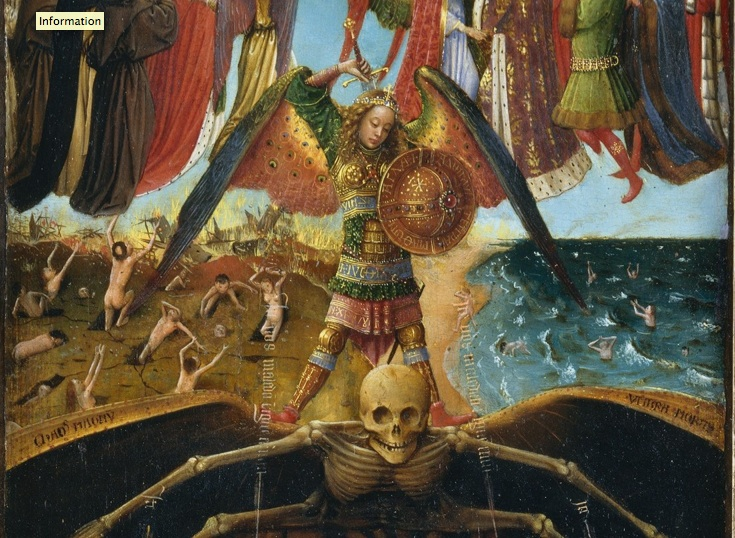 Jan van Eyck and Workshop Assistant, detail Crucifixion and Last Judgement diptych, c. 143040. Oil on canvas, transferred from wood.