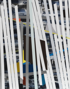 Untitled, 2012, acrylic on board, 60 x 48 inches, courtesy Inman Gallery