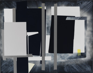 Untitled, 2012, acrylic on board, 48 x 60 inches, courtesy Inman Gallery