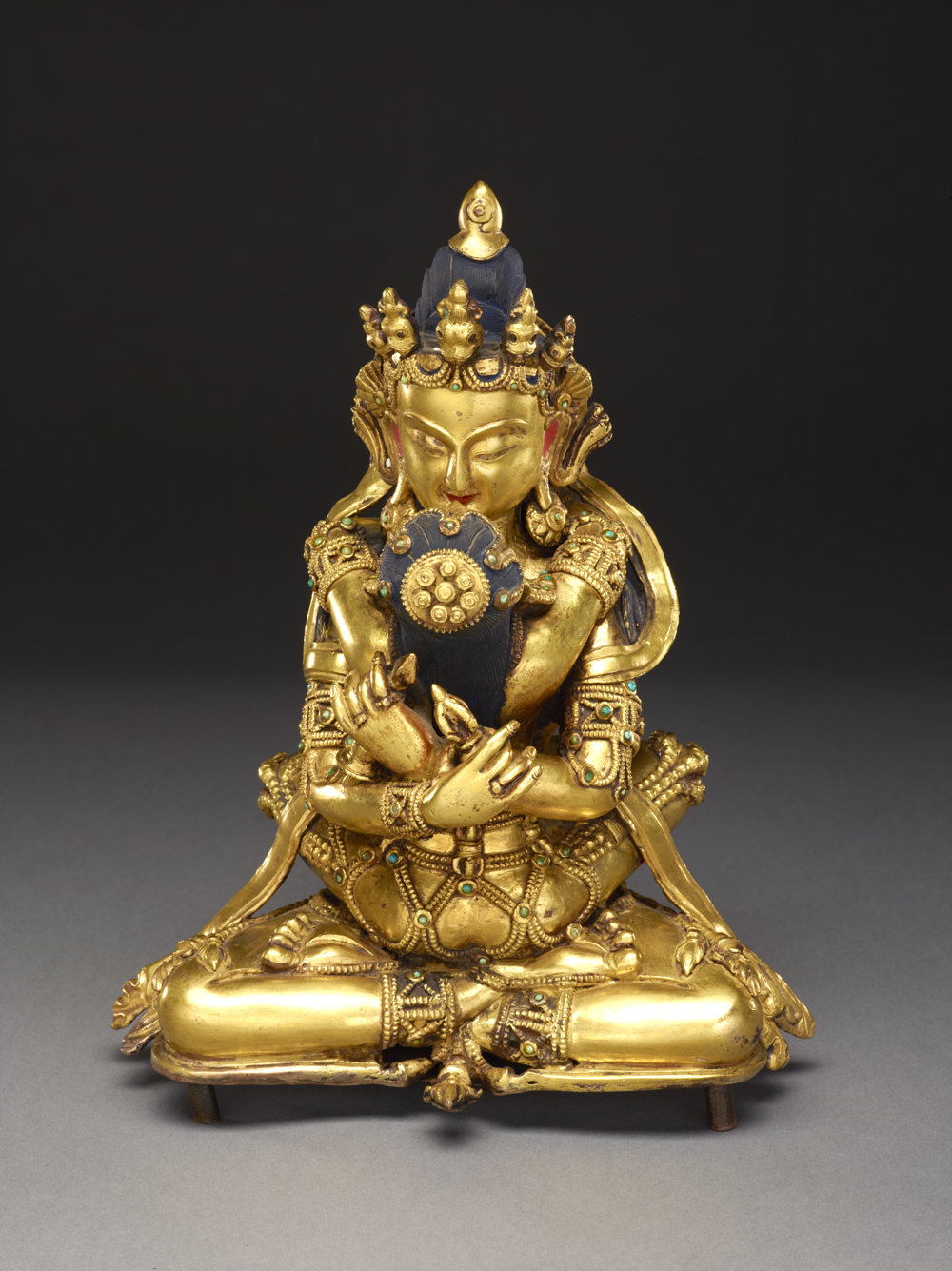 1. Vajradhara (Holder of the Thunderbolt), Tibet, 19th century, Courtesy of The Crow Collection of Asian Art.