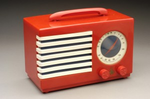 Prototype case for Emerson Patriot radio, ca. 1940-1941.  Image courtesy of the Edith Lutyens and Norman Bel Geddes Foundation / Harry Ransom Center