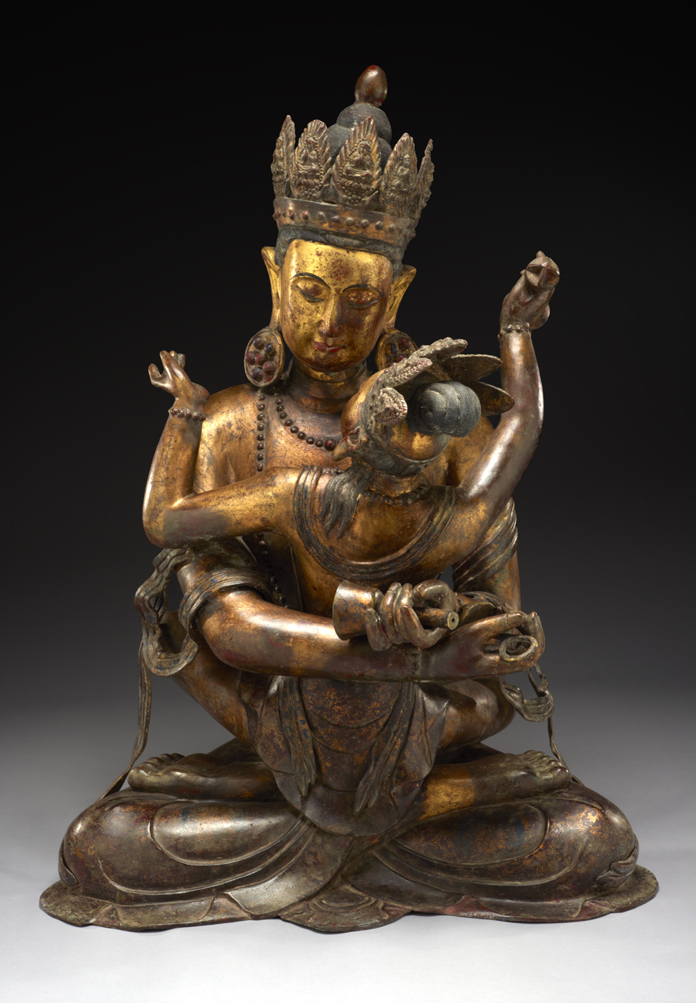 Vajradhara (Holder of the Thunderbolt) Sino-Tibetan culture, early 19th century, Courtesy of The Crow Collection of Asian Art