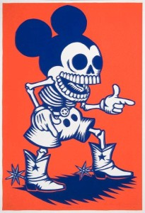 Artemio Rodriguez, Mickey Muerto, 2005. Screenprint. Collection of the McNay Art Museum, Gift of Harriett and Ricardo Romo.