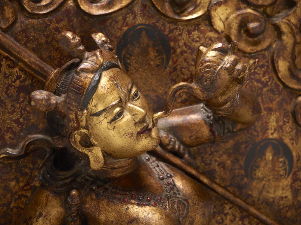 Detail of Sarva Buddha Dakini, Sino-Tibetan culture, early 19th century, Courtesy of The Crow Collection of Asian Art