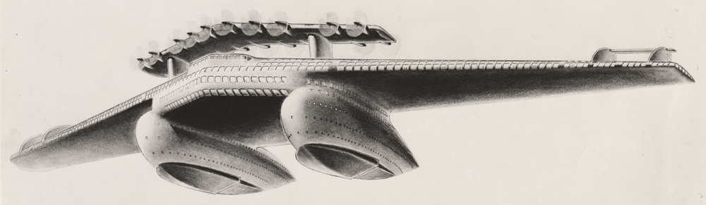 Airliner No. 4, ca. 1929-1932.  Image courtesy of the Edith Lutyens and Norman Bel Geddes Foundation / Harry Ransom Center
