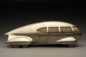 Motor Car No. 9 (without tail fin), ca. 1933.  Image courtesy of the Edith Lutyens and Norman Bel Geddes Foundation / Harry Ransom Center