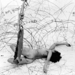 "Sure, we (artists/ladies/somebody's bitches) can do it all if we want to. Remind me again why want to? Carolee Schneeman's ""Up to and Including Her Limits"" 1973-1976"
