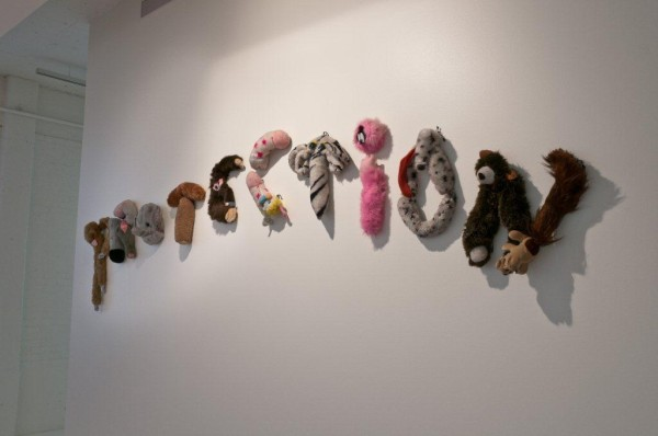 Annette Messager, Protection, 1998; Stuffed plush toy parts