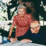 An undated photograph of Ruth with Philip Johnson.