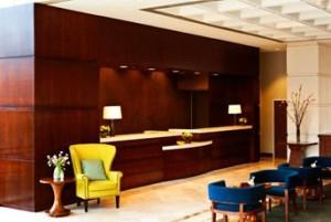 The Sheraon lobby awaits!