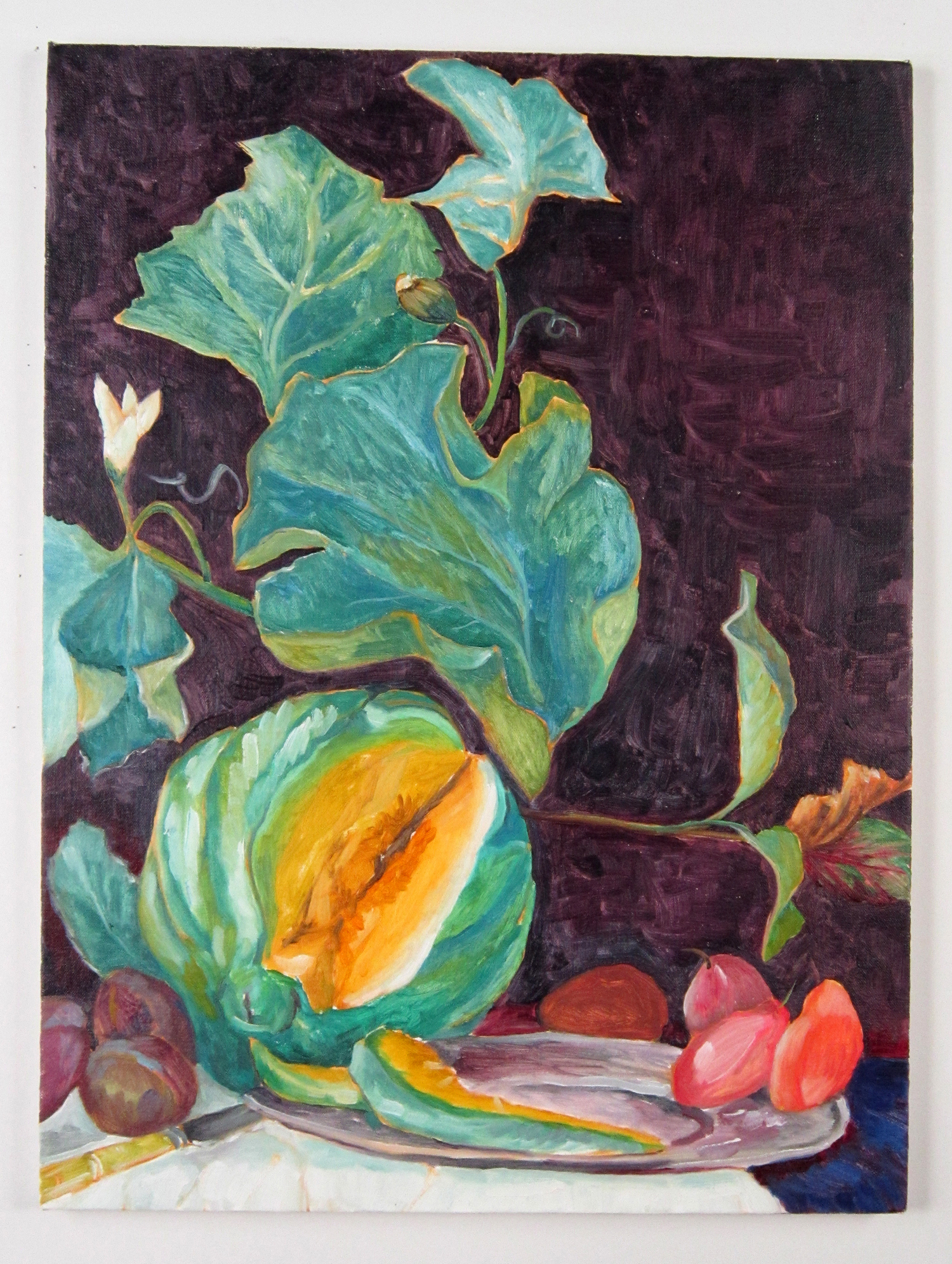 "Todd Kelly Melon.  24""x18"" oil on canvas 2012"