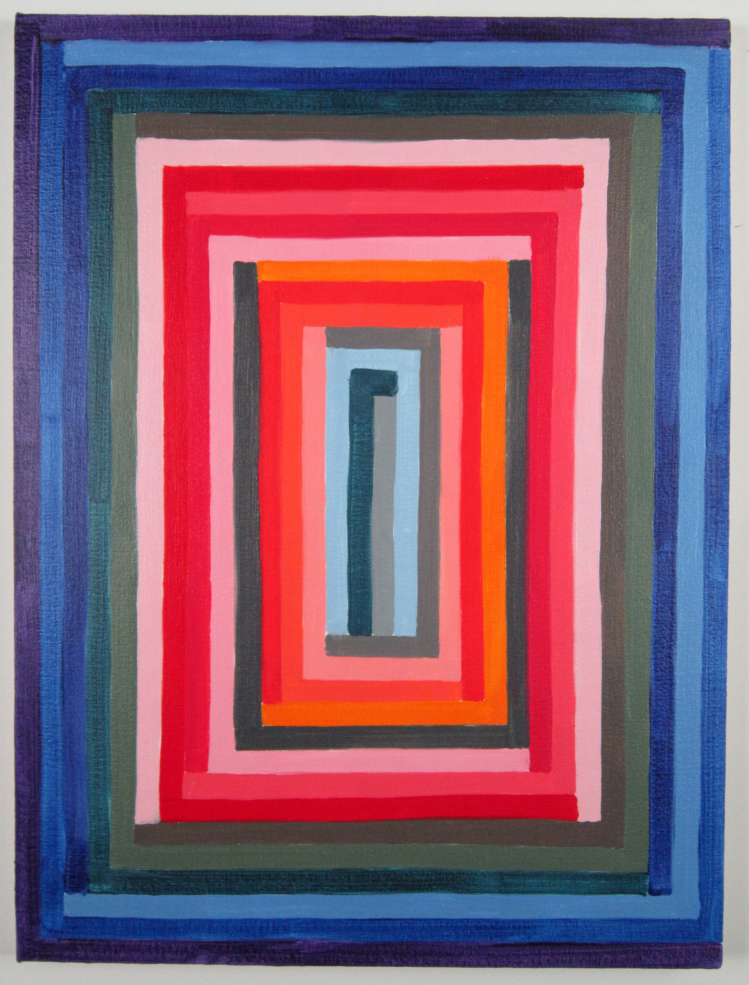 "Todd Kelly Untitled Abstract Painting 24.  24""x 18"" oil on canvas 2012"