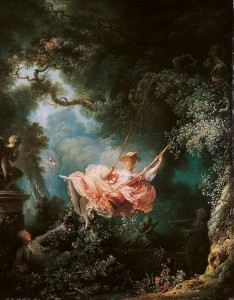 Jean-Honoré Fragonard (1732–1806), The Happy Accidents of the Swing, 1767-1768 oil on canvas, 81 × 64 cm (31.9 × 25.2 in), Wallace Collection, London