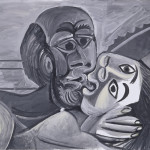 Pablo Picasso, The Kiss, 1969, oil on canvas, Private Collection, New York. © 2013 Estate of Pablo Picasso / Artists Rights Society (ARS), New York
