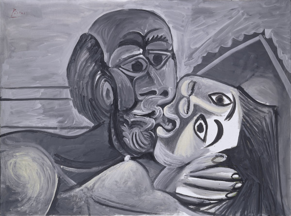 Pablo Picasso, The Kiss, 1969, oil on canvas, Private Collection, New York.  2013 Estate of PabloPicasso / Artists Rights Society (ARS), New York