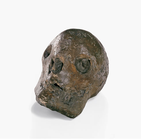 Pablo Picasso, Skull (Le crne [Tte de mort]), Grands-Augustins, Paris, 1943. Bronze, 25 x 21 x 33 cm. One of two unnumbered proofs. Private collection.  2012 Estate of Pablo Picasso/Artists Rights Society (ARS), New York. Photo: Maurice Aeschimann 