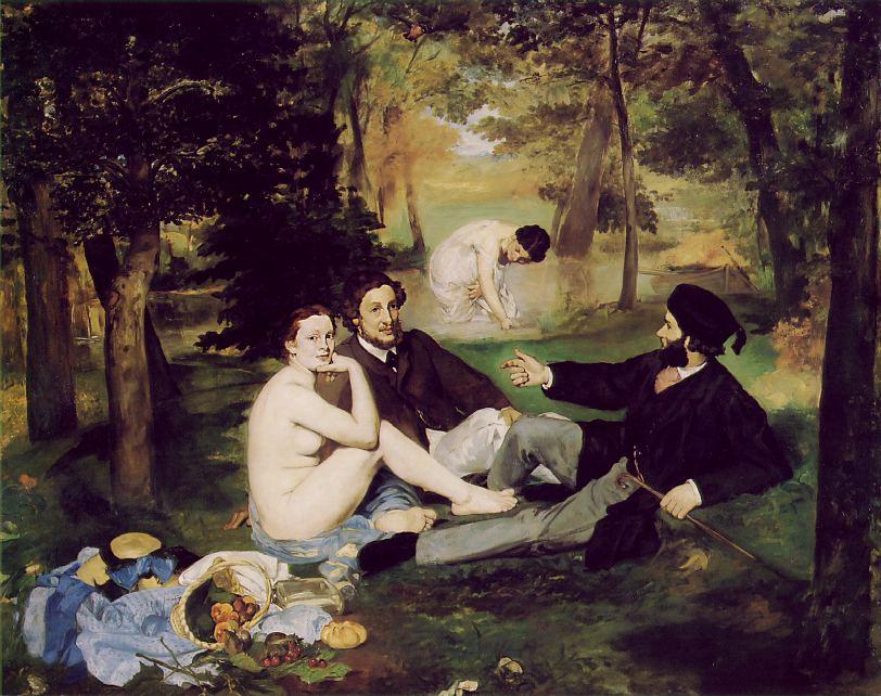 Edouard Manet, Le déjeuner sur l'herbe, oil on canvas, 1862-1863