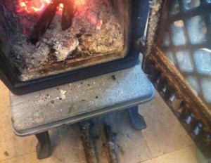 wood dirty hearth