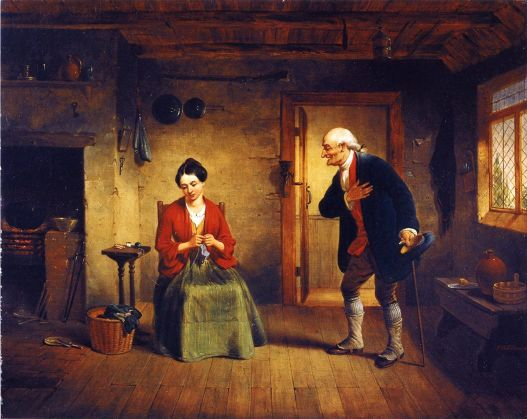 'The Rejected Suitor' by Francis William Edmonds