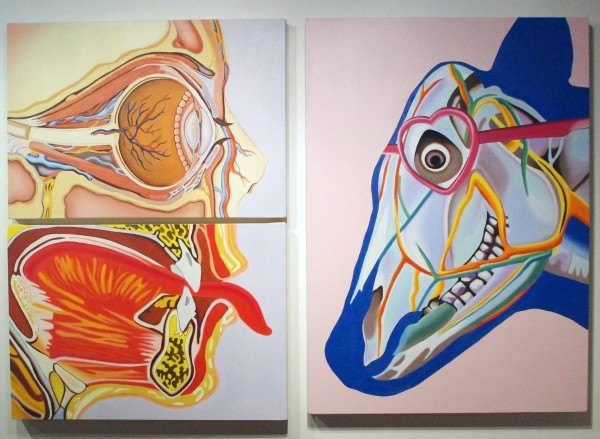 Suzy Gonzalez, Lolita Devoured (triptych), Oil on canvas, 2013