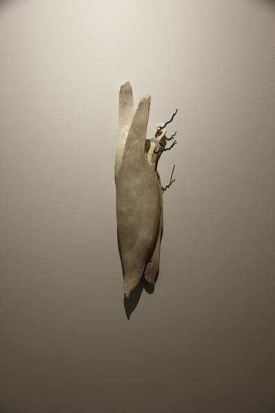 Plenty, 2012, bone, 17 x 5 1/2 x 3 1/2 inches