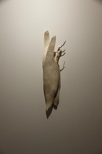 Plenty, 2012, bone, 17 x 5 1/2 x 3 1/2 inches