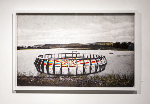 Watergate, 2013, Found image digitally printed and found paper, 31 X 48 inches