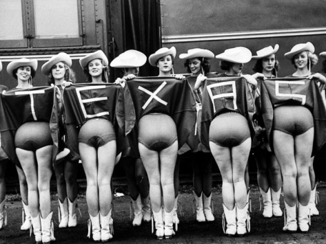 Texas Rangerettes Performing During Inauguration Festivities for Dwight D. Eisenhower by Hank Walker, Life Magazine