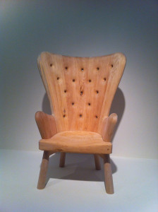 Martin Puryear, A Skeuomorphic Wing Chair, 2012