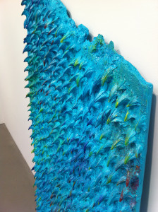 "Mika Rottenberg, ""Texture"" made from polyurethane resin and acrylic paint"