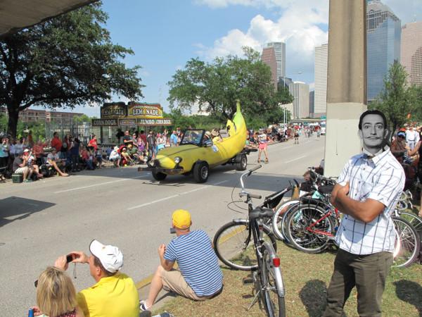 Spirit of Salvador Dali posesses spectator at Art Car Parade
