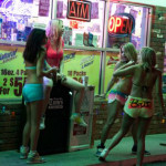 Singing in the parking lot. Harmony Korine's Spring Breakers (2013).