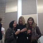 Merlin Carpenter with two Art Girls