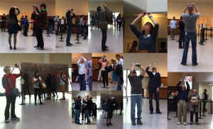Photos I took of people taking photos at Guggenheim